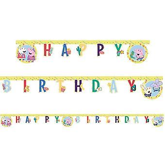 Greta Gris Striscione compleanno Peppa Pig Striscione