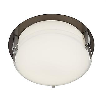 Searchlight Edinburgh Integrierte LED 1 Light Flush Brown, Weiß, Chrom 4911-30BR