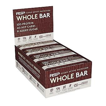 Rsp whole bar - low carb keto protein bar, 10g grass fed protein, 4g net carbs, 19g fat, zero added sugar, perfect keto snack, gluten free, 12 pack