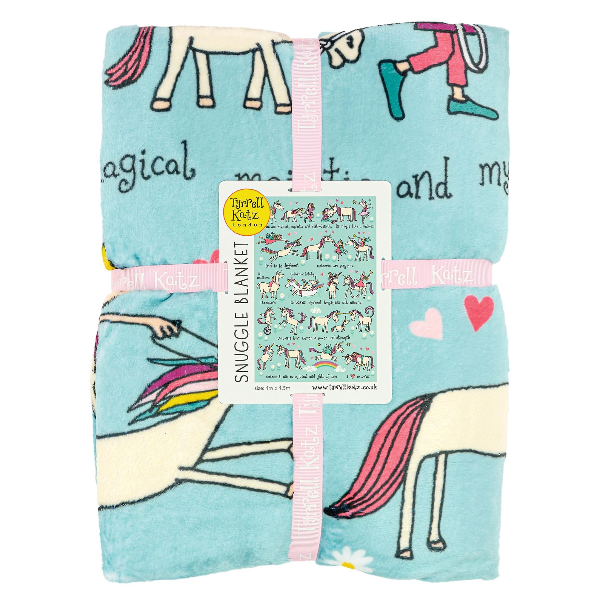 Tyrrell Katz Unicorns Snuggle Blanket