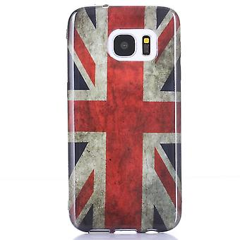 Hull For Samsung Galaxy S7 Pattern Flag Uk