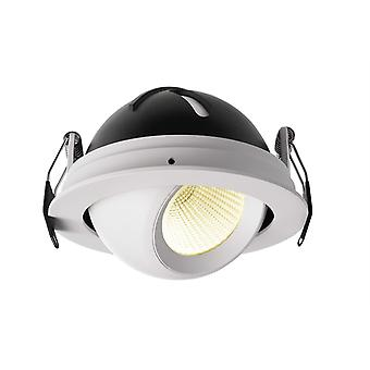 LED recessed ceiling lamp Bellatrix 9W 3000 K 40° rotatable and swivel dimmable white IP20