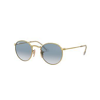 Ray-Ban Runde Metall RB3447N 001/3F Gold/Kristall blau Farbverlauf Sonnenbrille