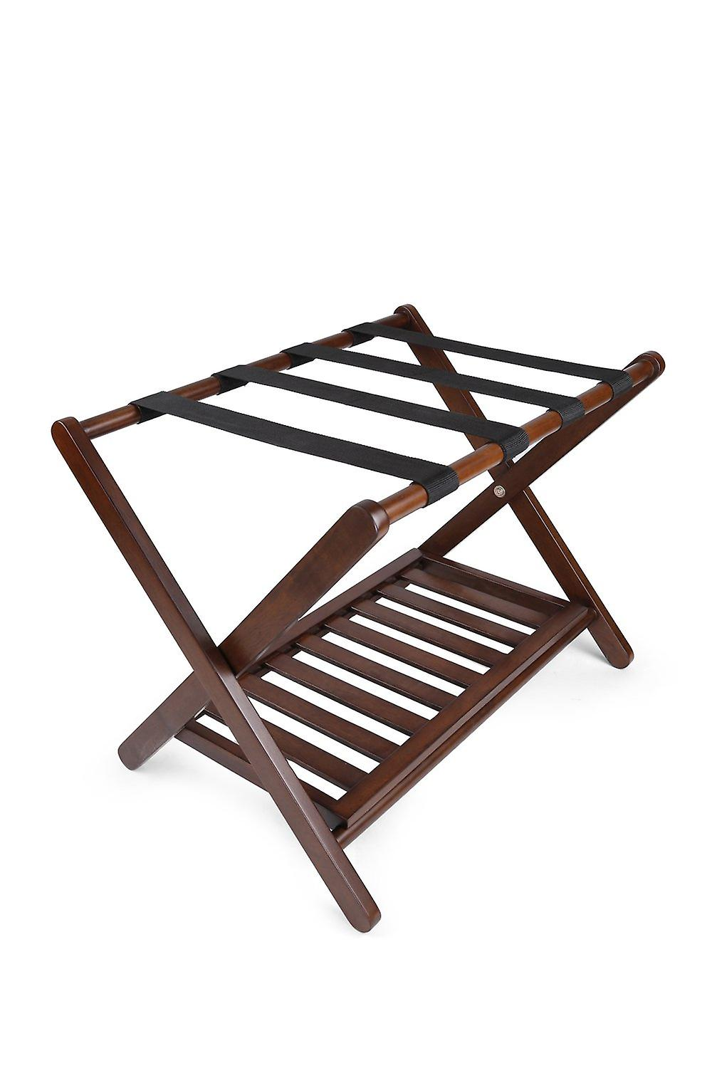 Penguin Home Classic Luggage Rack Crafted in Solid Hardwood