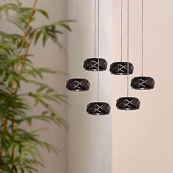 CRUST 6 Mini Pendant Lighting Black