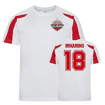 Takum Minamino FC Red Bull Salzburg Sports træningstrøje (hvid)