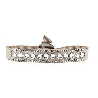 Armband verwisselbaar A19138 - stof Beige vrouw Swarovski kristallen armband