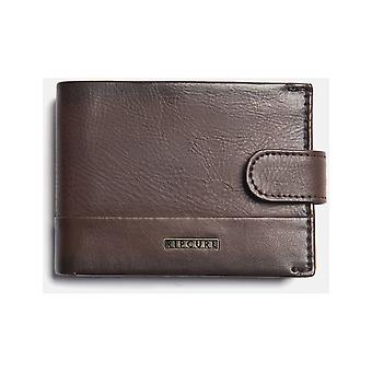 Rip Curl Horizons PU Clip Slim Faux Leather Wallet in Brown