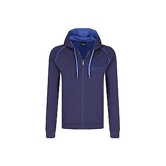 Hugo Boss casual Hugo Boss donker blauwe Hooded erfgoed jas