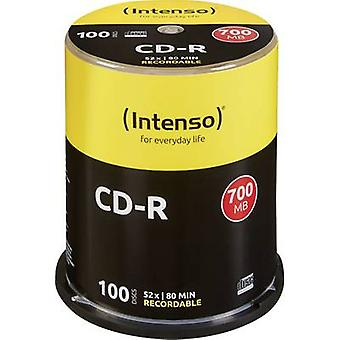 Intenso 1001126 blanco CD-R 80 700 MB 100 PC (s) spindel