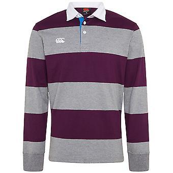 Canterbury Mens Uglies Hoop Long Sleeve Polo Rugby Shirt