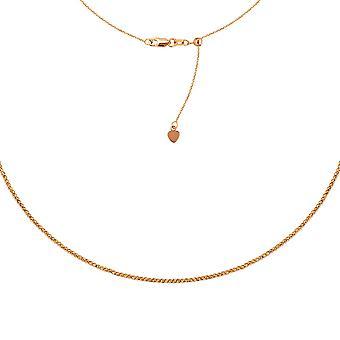 14 k Rose Gold 2mm Sparkle Cut Perle verstellbar Halsband Halskette 16 Zoll Schmuck Geschenke für Frauen