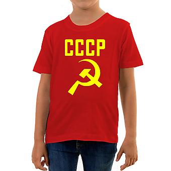 Reality glitch cccp hammer and sickle kids t-shirt