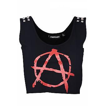 Jawbreaker Clothing Anarchy Studded Crop Top