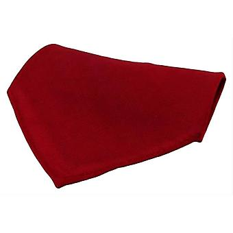 David Van Hagen Diagonal Twill Silk Pocket Square - Wine Red