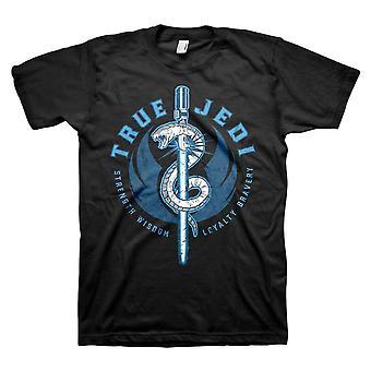 Męskie's Star Wars Distressed True Jedi Czarny T-Shirt