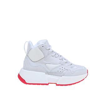 Mm6 Maison Margiela S40ws0122p2932h7966 Women-apos;s White Leather Hi Top Sneakers
