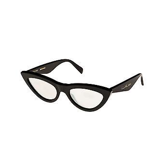 Celine CL40019I 01C Shiny Black/Smoke Mirror Sunglasses
