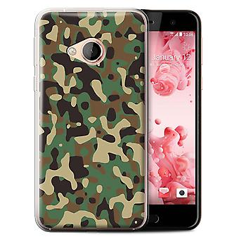 STUFF4 Gel TPU Case/Cover for HTC U Play/Alpine/Green 3/Camouflage Army Navy