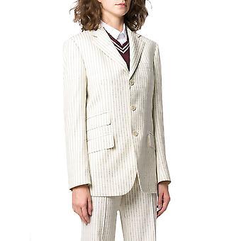 Maison Margiela S51bn0372s52599101 Dames's White Cotton Blazer