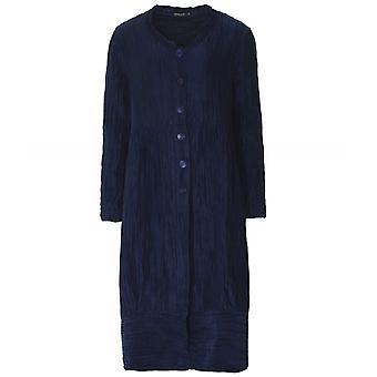 Grizas Linen & Silk Crinkled Longline Jacket