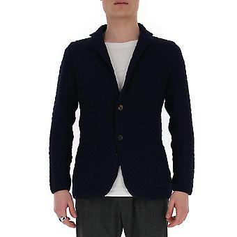 Lardini Eiljm22ei54007850 Men's Blue Cotton Blazer
