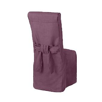 Purple Linnen Look Fabric Gestoffeerd Slipcover voor Scroll Top Dining Chair