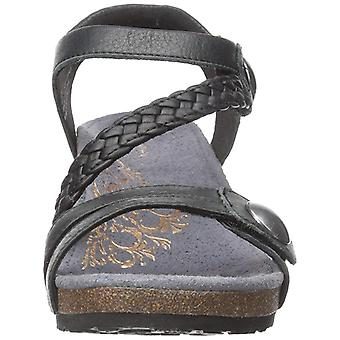 Aetrex Womens Naya Leather Open Toe Casual Platform Sandals