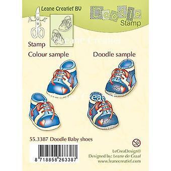 LeCrea - Doodle duidelijke stempel Baby schoenen 55.3387