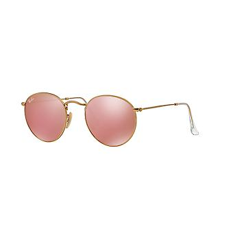 Ray-Ban RB3447 112/Z2 Matte Gold/Brown-Pink Mirror Sunglasses