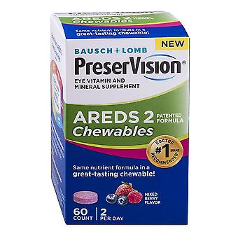 Bausch & lomb preservision areds 2 formula, chewables, 60 ea