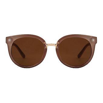 משקפי שמש עגולים אפורים בצבע אפור-דמי