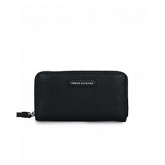 Armani Exchange Eco Leather Zip Around Wallet