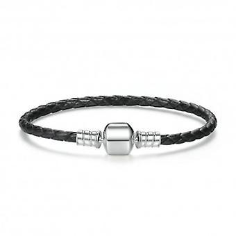 Woven Leather Charm Bracelet - 5757