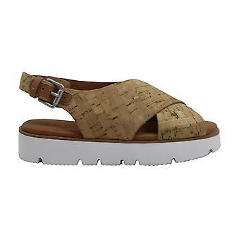 Gentle Souls Womens kiki Peep Toe Casual Slingback Sandals