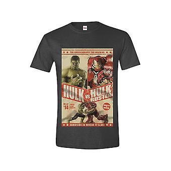 Avengers - Hulk Vs Hulkbuster Men T-Shirt - Anthracite