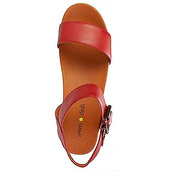 SEVEN DIALS Women's Wayne Heeled Sandal red/Burnished/Smooth 9 M US