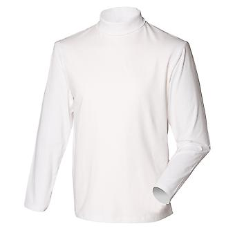 Henbury Mens Long Sleeve coton Rich Roll Neck Top / Sweat-shirt