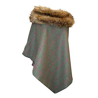 George And Dotty Womens/Ladies Tweed Faux Fur Mimi Cape