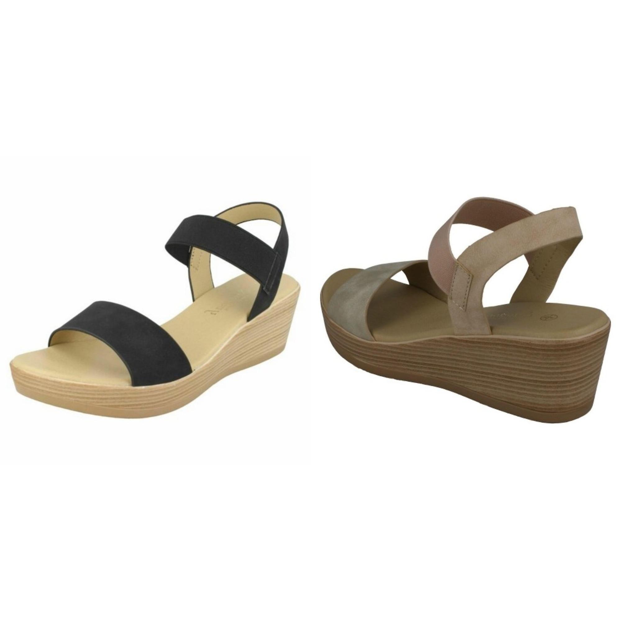 Savannah Womens/Ladies Mid Wedge Sandals X1W2y