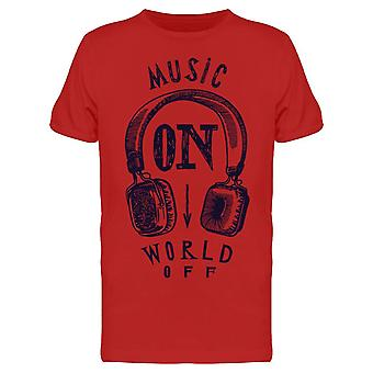 Music On World Off Tee Men's -Image by Shutterstock