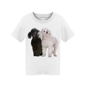 Black And White Poodles Standing Tee Toddler's -Image by Shutterstock