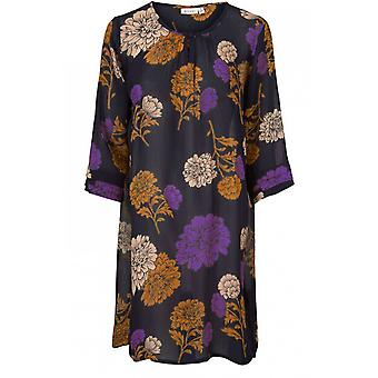 Masai Clothing Grith Violet Floral Tunic