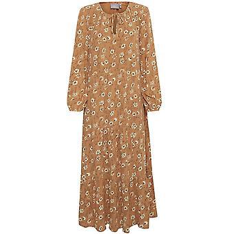 b.young Tan Floral Print Dress