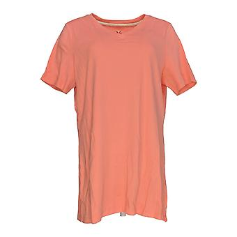 Isaac Mizrahi Live! Women's Top Essentials V-Neck Tunika Pink A272505