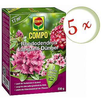 Sparset: 5 × COMPO رودوديندرون الأسمدة طويلة الأجل، 850 غرام