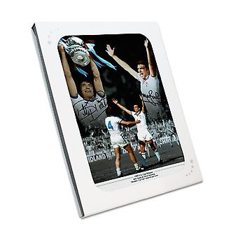 West Ham Photo Signed By Trevor Brooking And Billy Bonds: 1980 FA Cup Final In Gift Box