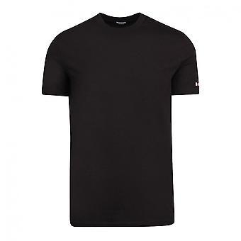 DSQUARED2 Cotton Simple Black T-shirt