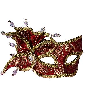 Mascarade Ven masque rouge & Gold Pearl W