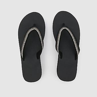 Black Shurkana Wedge Flip flop